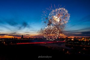 edmonton, high level bridge, canada day