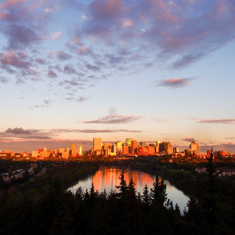 edmonton, downtown skyline