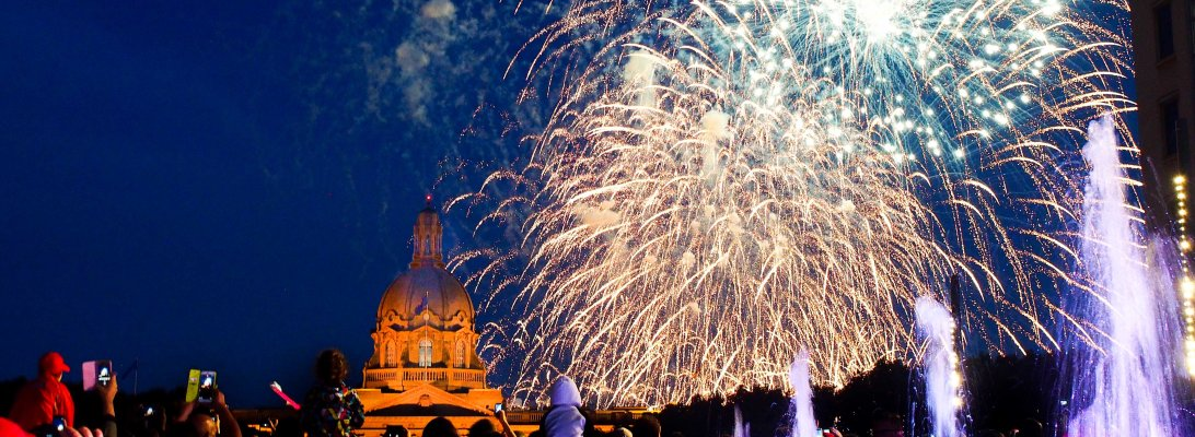 edmonton, summer, legislature, canada day