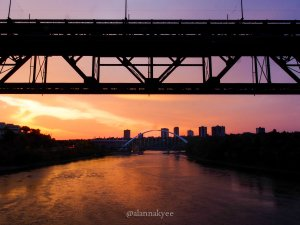 fall, edmonton, walterdale bridge, high level bridge