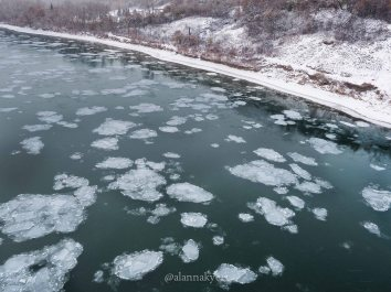 edmonton, winter, north saskatchewan river