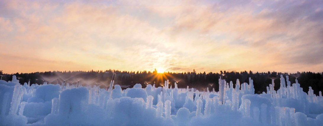 yeg, lookbook, ice castle, sunset