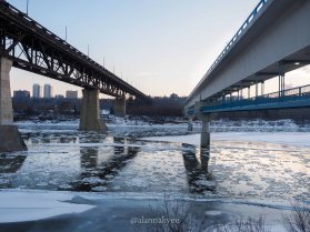 edmonton, winter, nature, november, high level bridge, north saskatchewan river