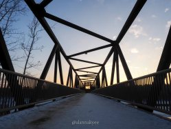 edmonton, winter, footbridge