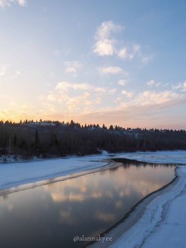 edmonton, winter, north saskatchewan river, november