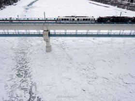 edmonton, winter, north saskatchewan river, LRT, november