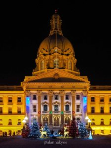 edmonton, alberta legislature, christmas