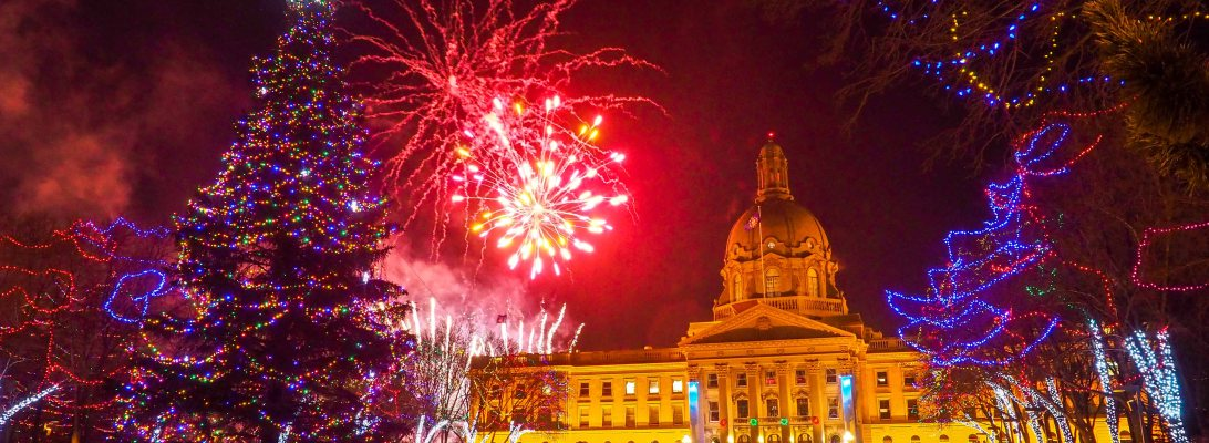 lookbook, december, alberta legislature, new years, holidays, fireworks