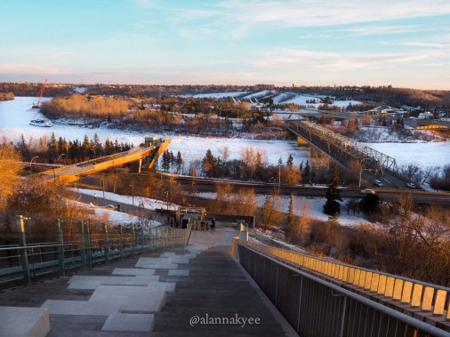 yeg, december, funicular, river valley