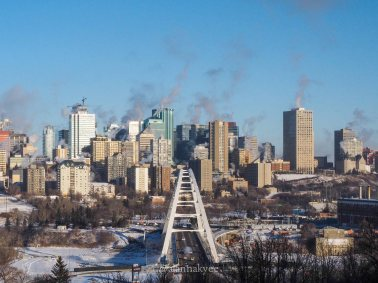 yeg, december, downtown