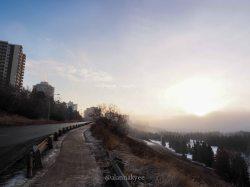 yeg, january, edmonton, winter, fog