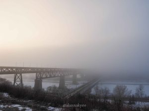 yeg, january, edmonton, winter, high level bridge