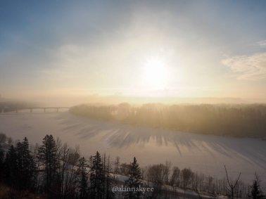 yeg, january, edmonton, winter, sunrise, fog