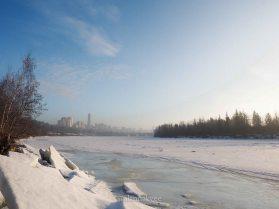 yeg, january, edmonton, winter, fog, downtown, north saskatchewan river