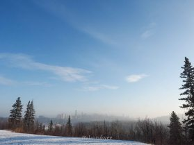 yeg, january, edmonton, winter, fog, downtown, riverside drive