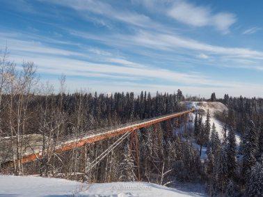 yeg, january, whitemud ravine park, bridge, winter