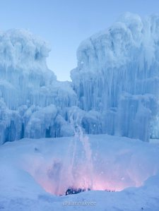 lookbook, edmonton, hawrelak park, ice castles, winter