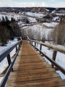 edmonton, yeg, february, whitemud ravine, quesnell bridge