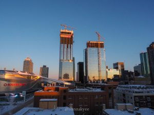 edmonton, yeg, february, downtown, ice district, rogers place