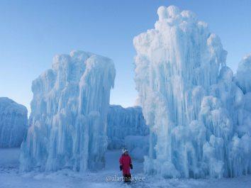 edmonton, yeg, february, ice castle, hawrelak park