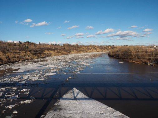 yeg, edmonton, lookbook, april, spring, north saskatchewan river, river valley, capilano
