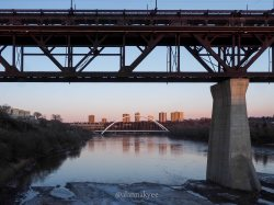 yeg, edmonton, lookbook, april, spring, north saskatchewan river, high level bridge, walterdale bridge