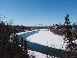 yeg, edmonton, lookbook, april, walterdale bridge, north saskatchewan river