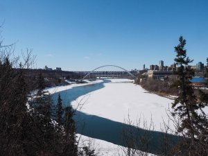 yeg, edmonton, lookbook, april, walterdale bridge, north saskatchewan river