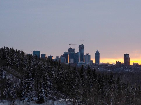 yeg, lookbook, march, skyline, snow, winter, downtown, sunset