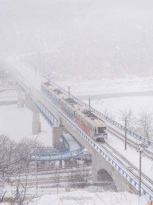 yeg, lookbook, march, snow, lrt, winter, storm, bridge