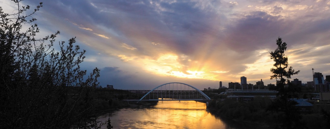 yeg, edmonton, may, sunset, walterdale bridge