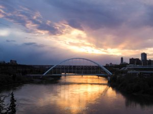 yeg, lookbook, may, sunset, walterdale bridge, north saskatchewan river