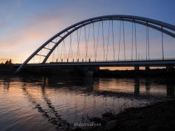 yeg, lookbook, may, walterdale bridge, sunrise, north saskatchewan river