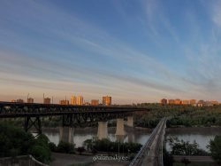 yeg, lookbook, may, sunrise, high level bridge